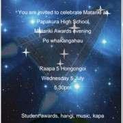 Matariki Invitation 2017