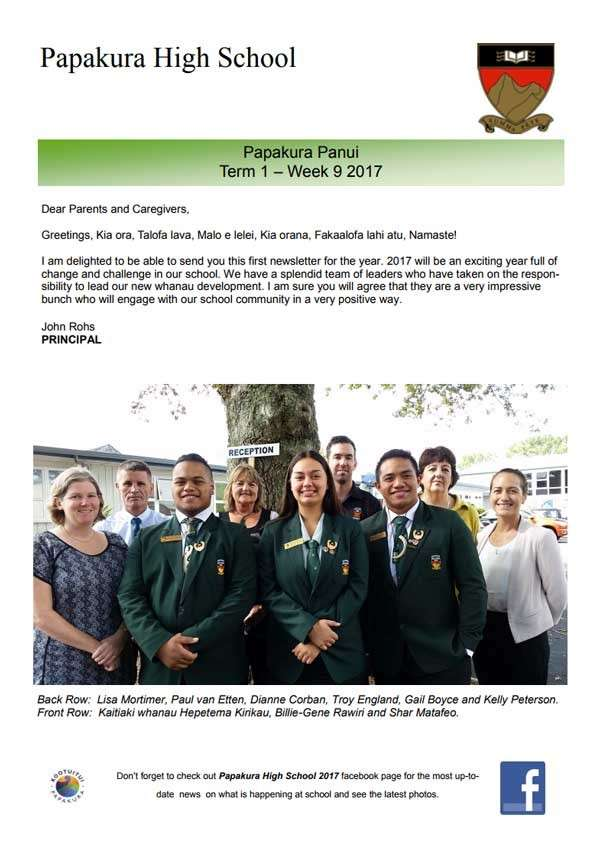 Newsletter Issue 1 2017