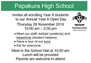 Yr 8 Open Day