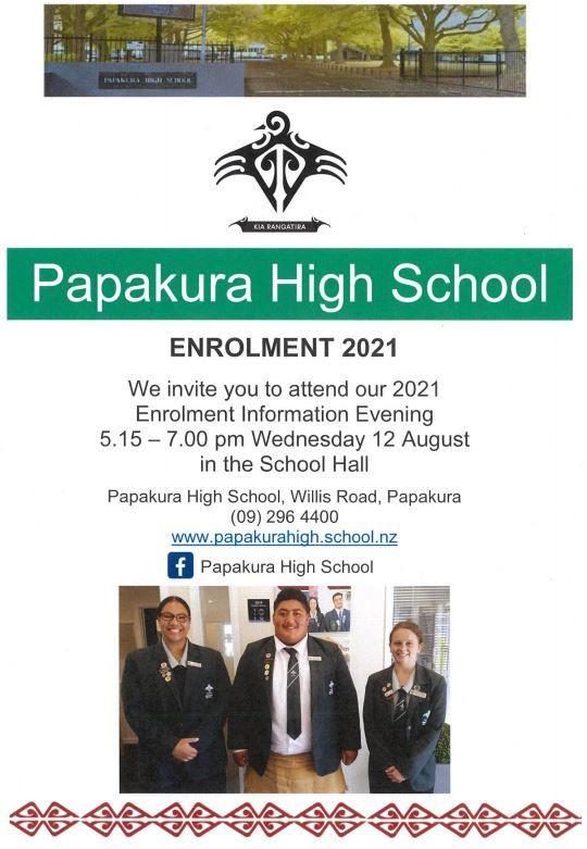 Year 8 Enrolment Information Evening - POSTPONED