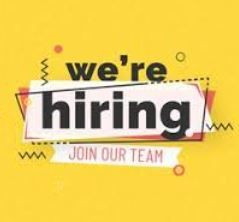 We are hiring.....
